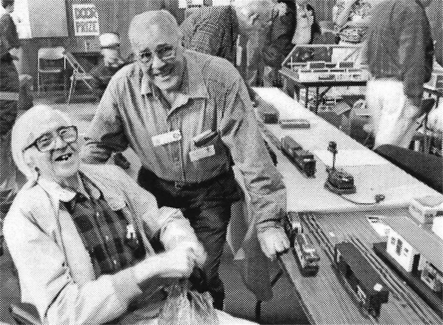 JIM DELANEY AND GUS BYROM AT A 1990s SWAP MEET